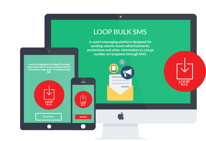 LOOP Bulk SMS Chat platform on desktop, mobile and tablet