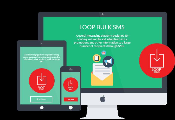 LOOP Bulk SMS Chat platform on desktop, mobile and tablet