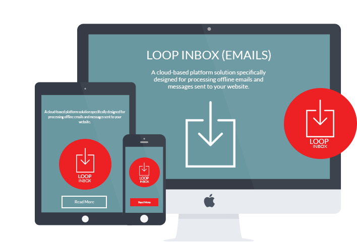 LOOP Email process on desktop, mobile and tablet