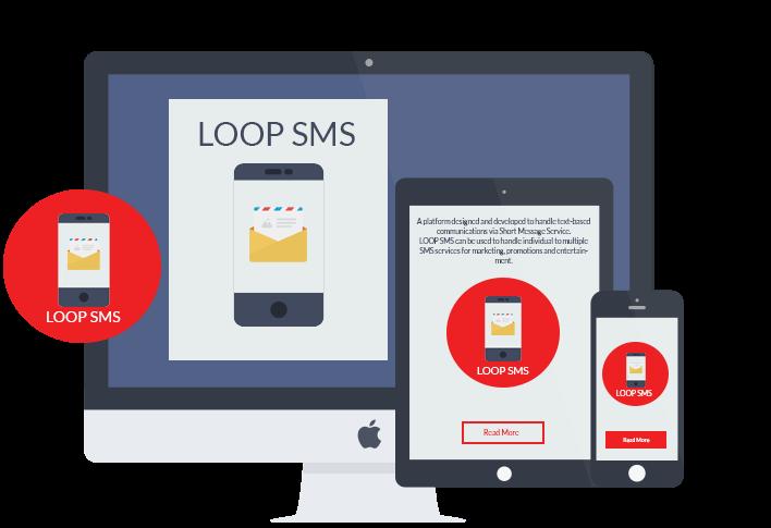 LOOP SMS Chat platform on desktop, mobile and tablet