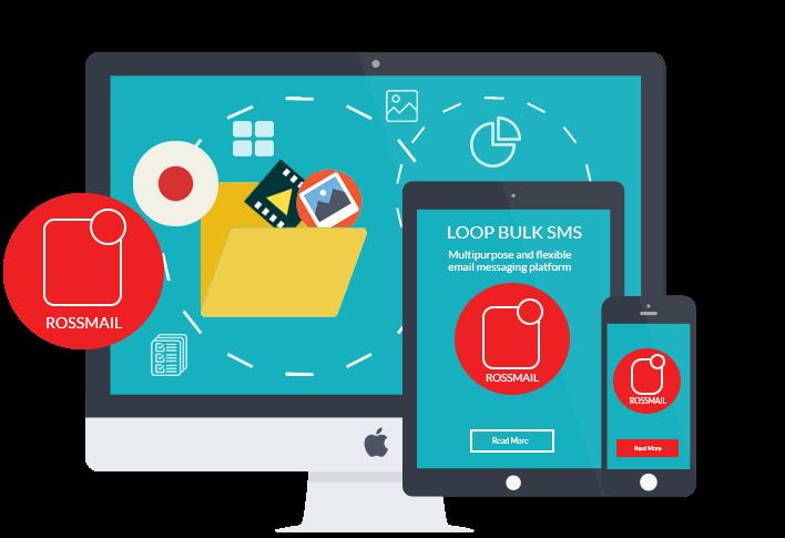 NMS Rosmail Chat platform on desktop, mobile and tablet