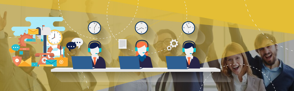 Live Chat operators assisting customer concerns