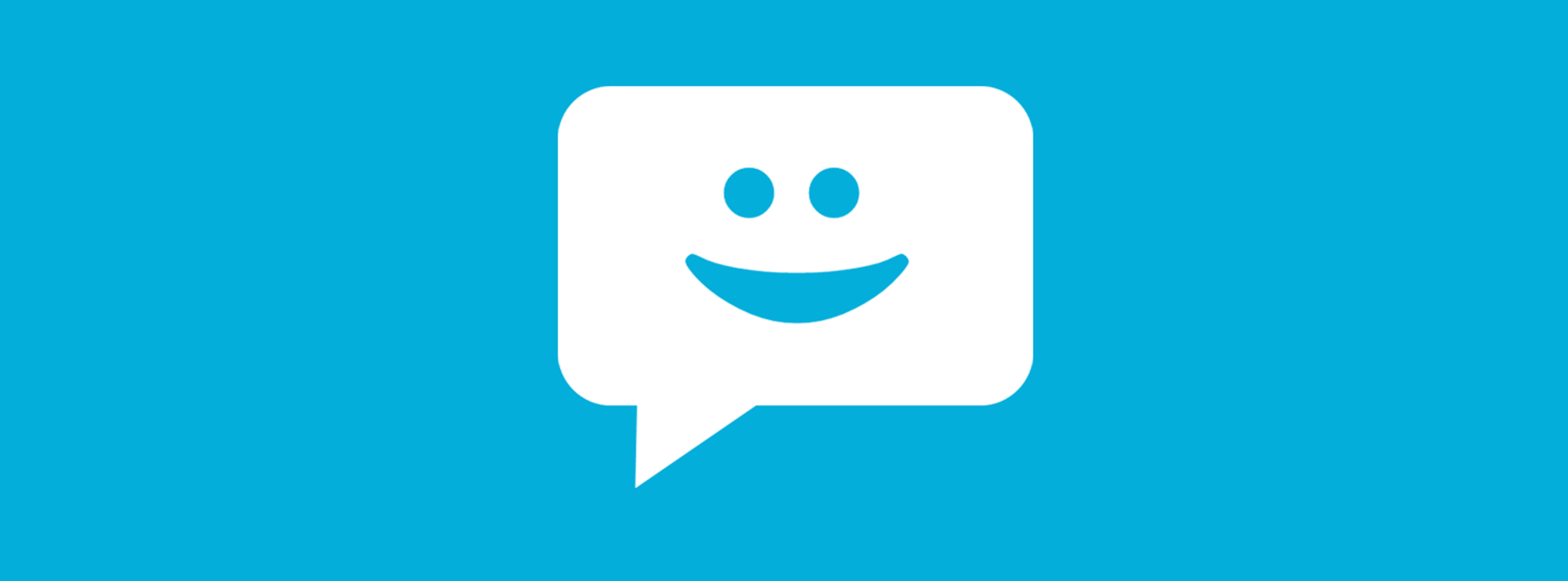 chat messaging icon with smile face