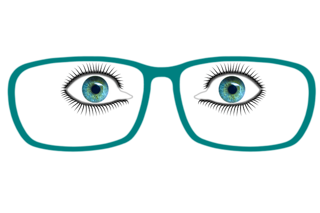 Eyes Image with green eyeglass