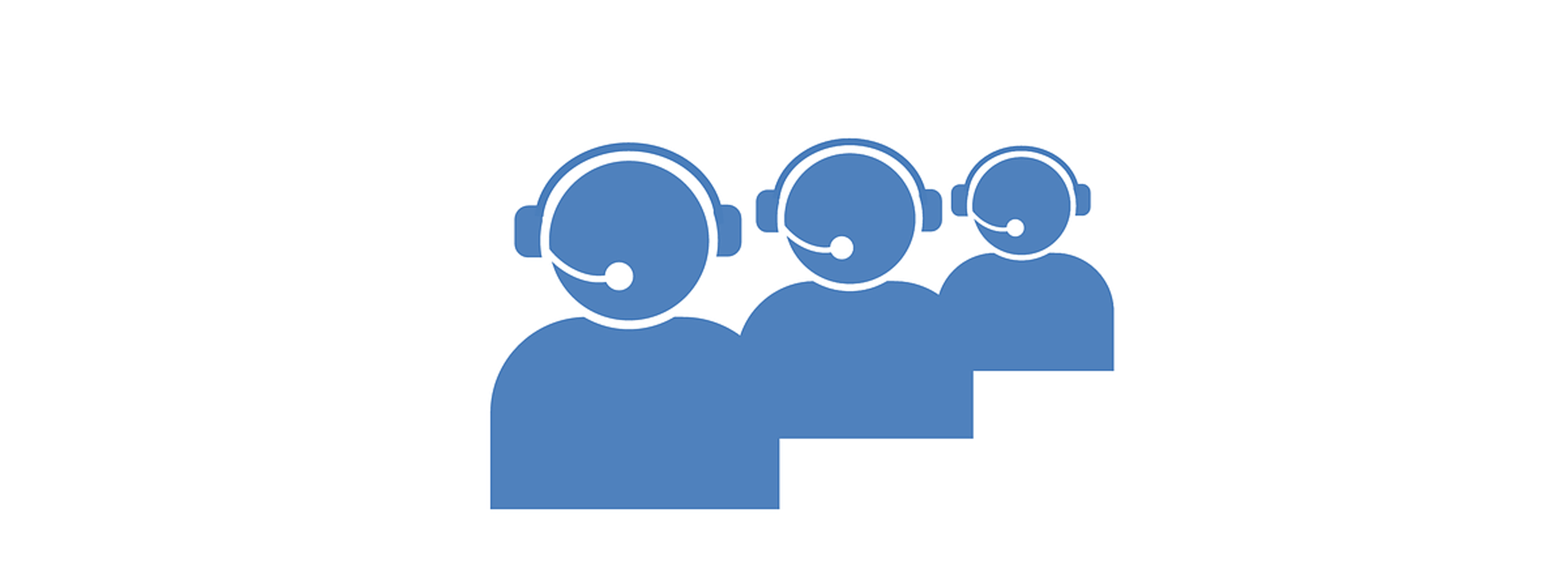 three customer support agent icons