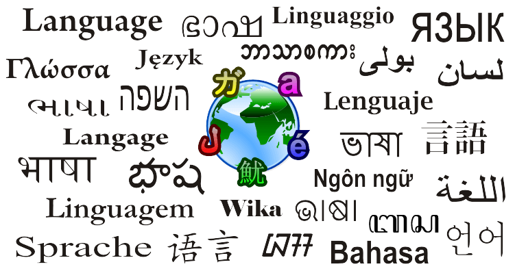Language word translated in different language