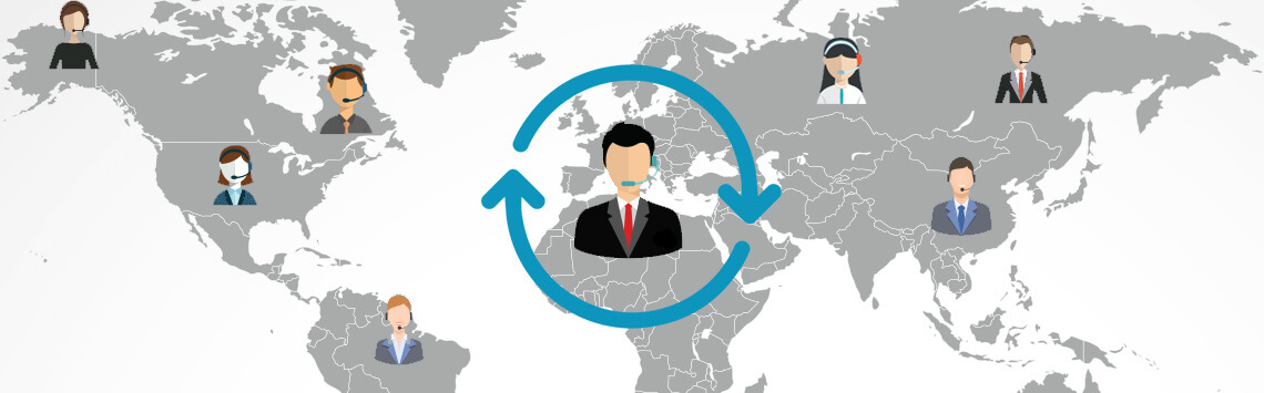 Call Center Outsourcing agent around the world