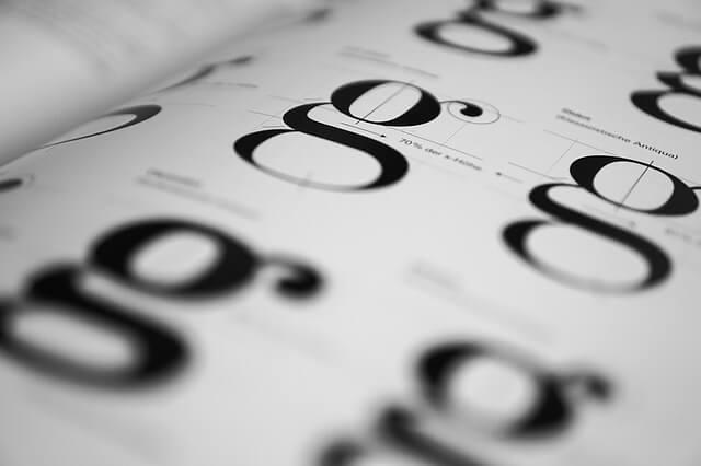 letter G font format
