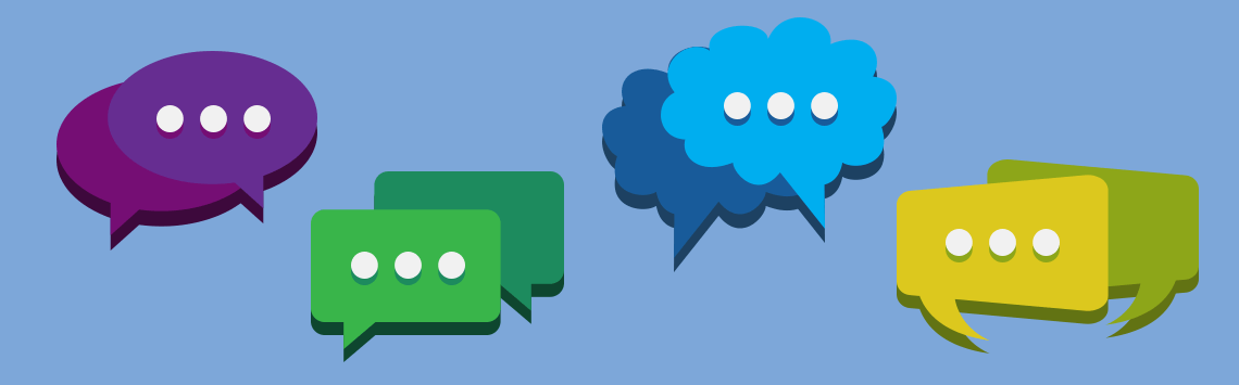 Social Media Moderation Messaging Icons