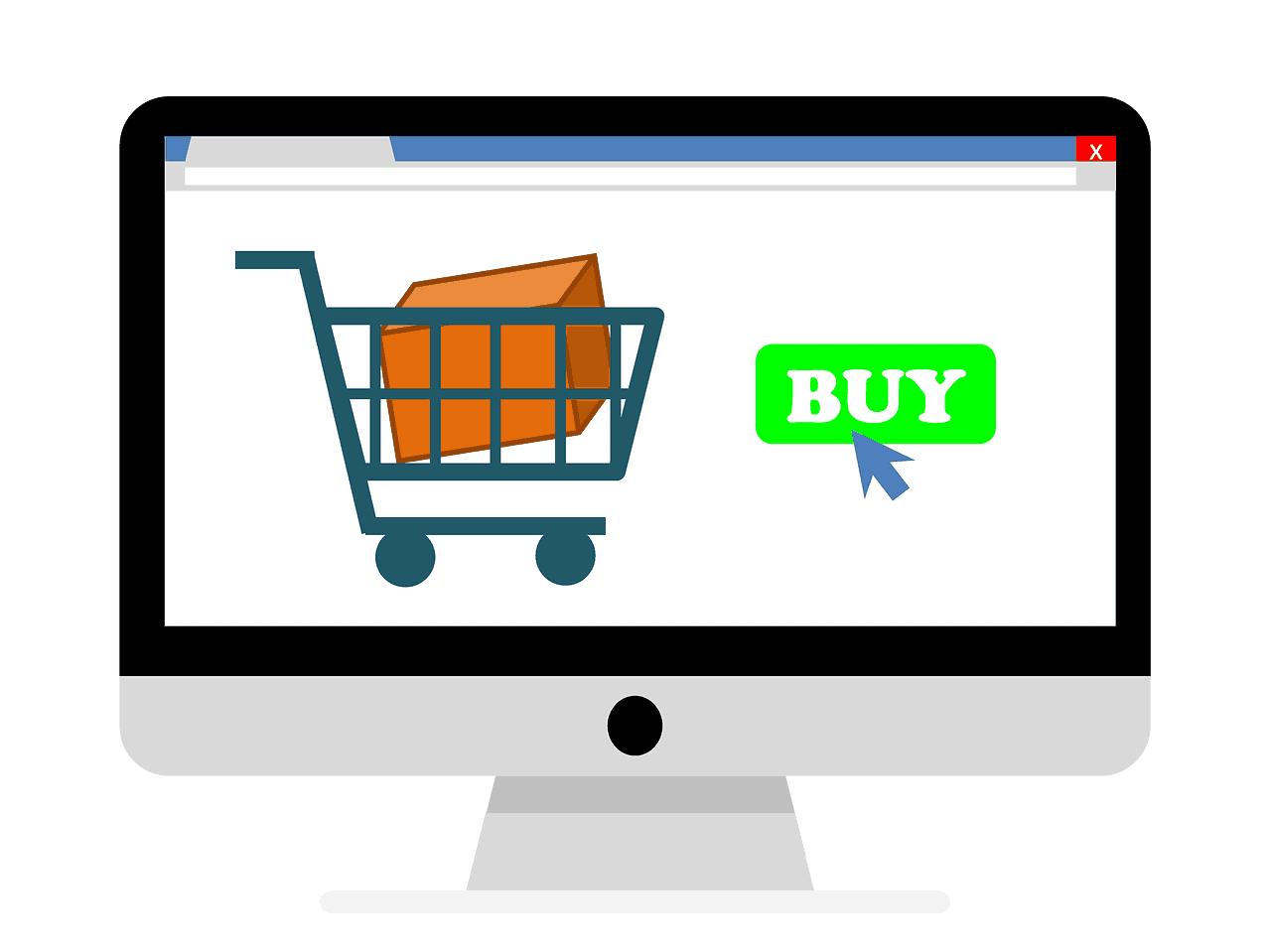 imac diplaying order verification shopping cart