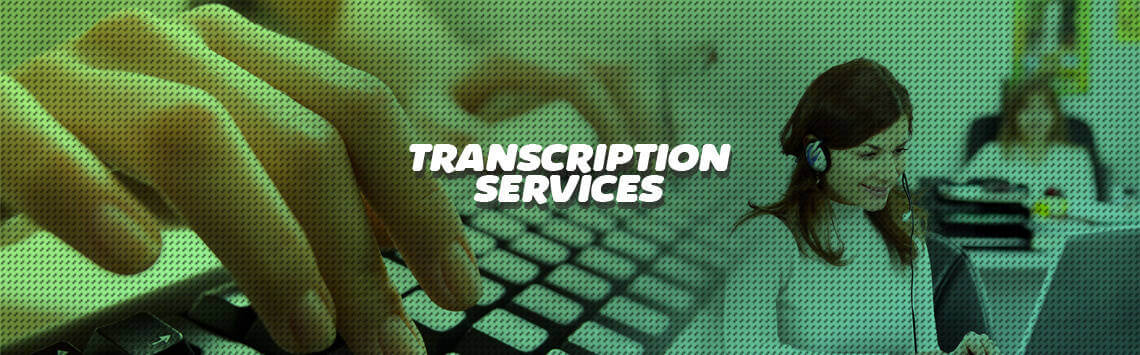 Transcription services banner