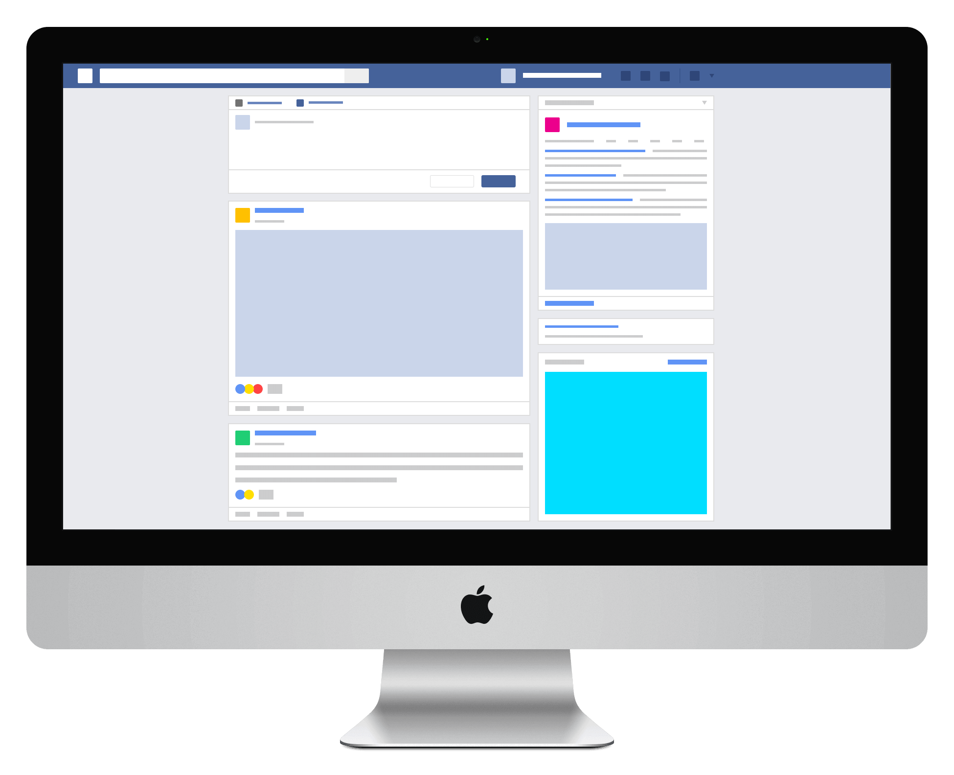 Facebook news feed on imac