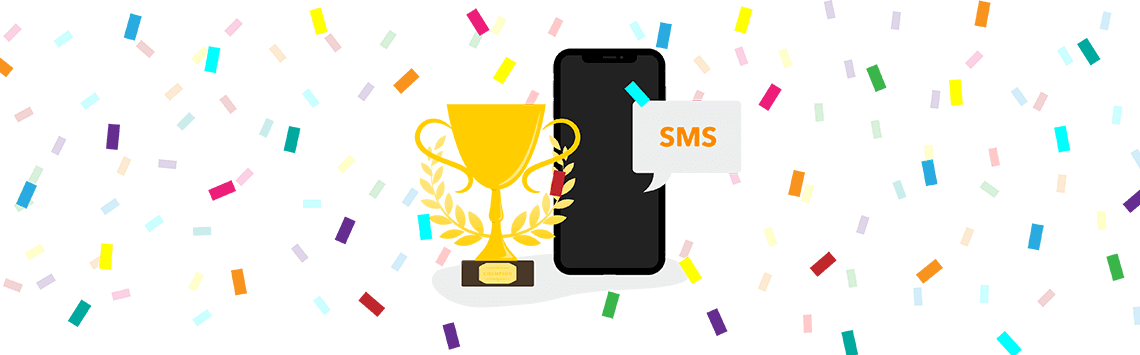 Text Messaging with a trophy