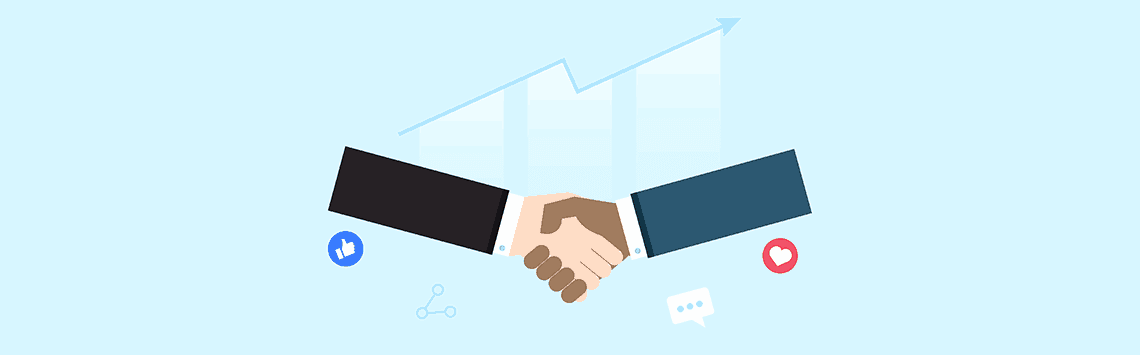 two business owner shaking hands