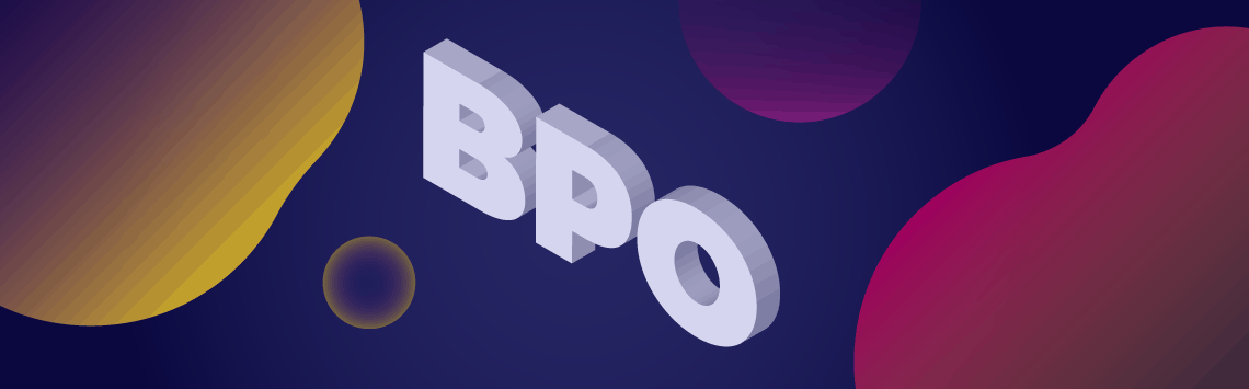 BPO text in 3D design