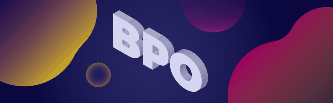 BPO text in 3D design