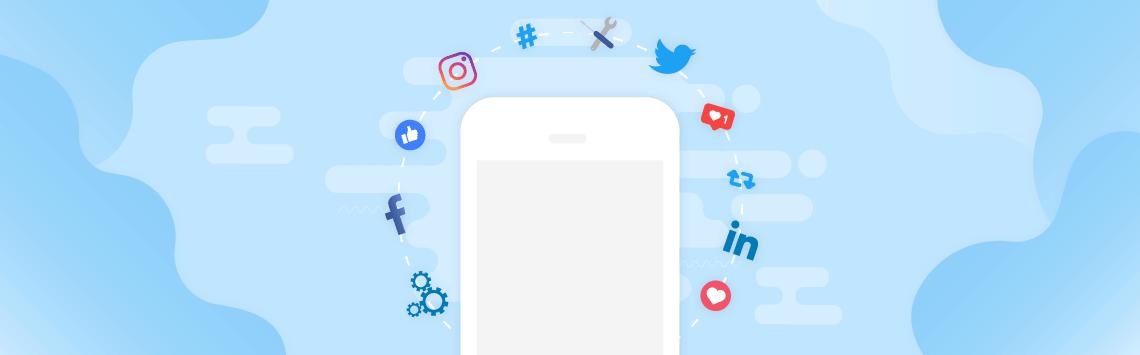 Different social media platform logos