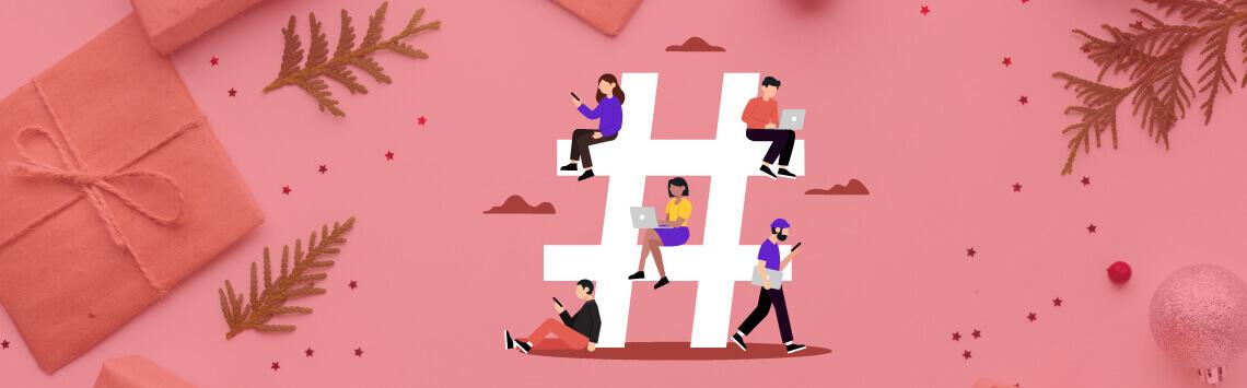 business social media hashtag