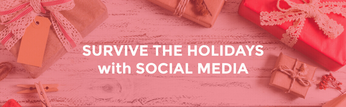 business social media on holidays